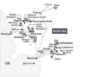 Map Of Uk Oil Fields.Perenco Oil And Gas Company In The Uk Perenco
